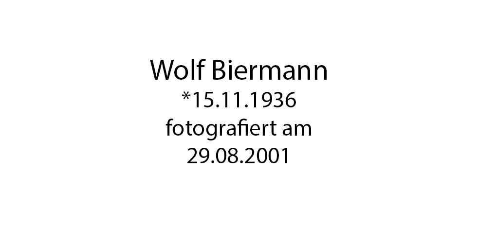 Wolf Biermann foto organico Picture Bild Krackhardt Christof Menschen des veröffentlichten Lebens Geburt Birth Datum