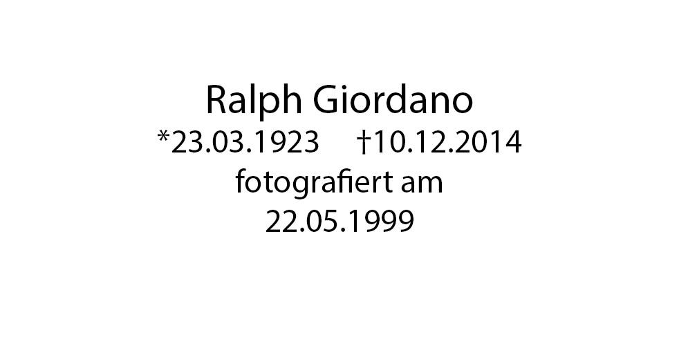 Ralph Giordano foto organico Picture Bild Krackhardt Christof Menschen des veröffentlichten Lebens Geburt Birth Datum