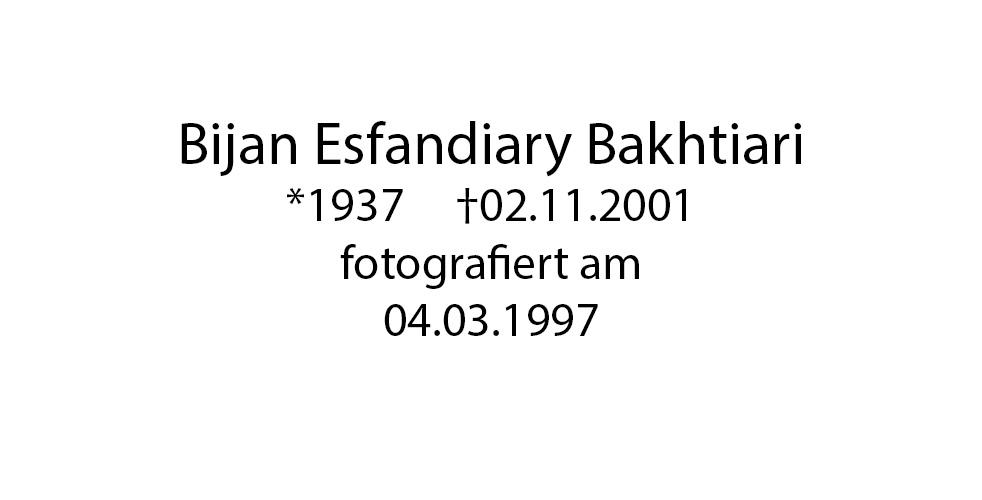 Bijan Esfandiary Bakthiari foto organico Picture Bild Krackhardt Christof Menschen des veröffentlichten Lebens Geburt Birth Datum