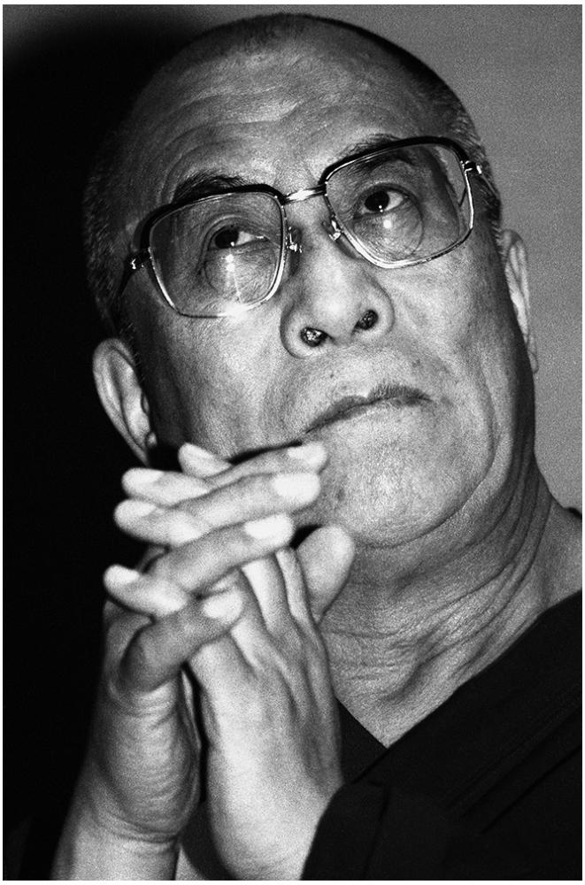 Dalai Lama Portrait foto organico Picture Bild Krackhardt Christof Menschen des veröffentlichten Lebens