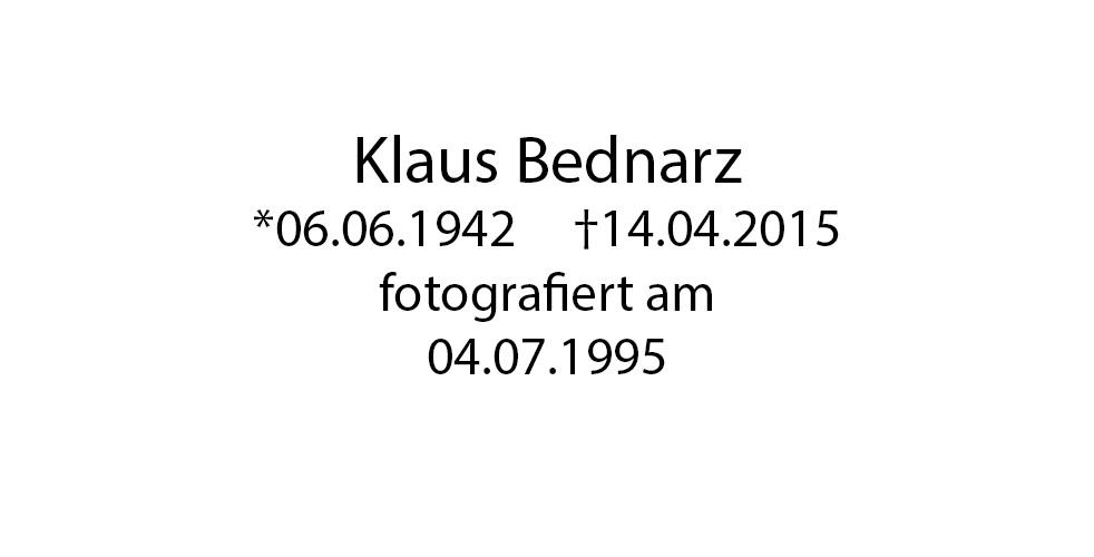 Klaus Bednarz foto organico Picture Bild Krackhardt Christof Menschen des veröffentlichten Lebens Geburt Birth Datum