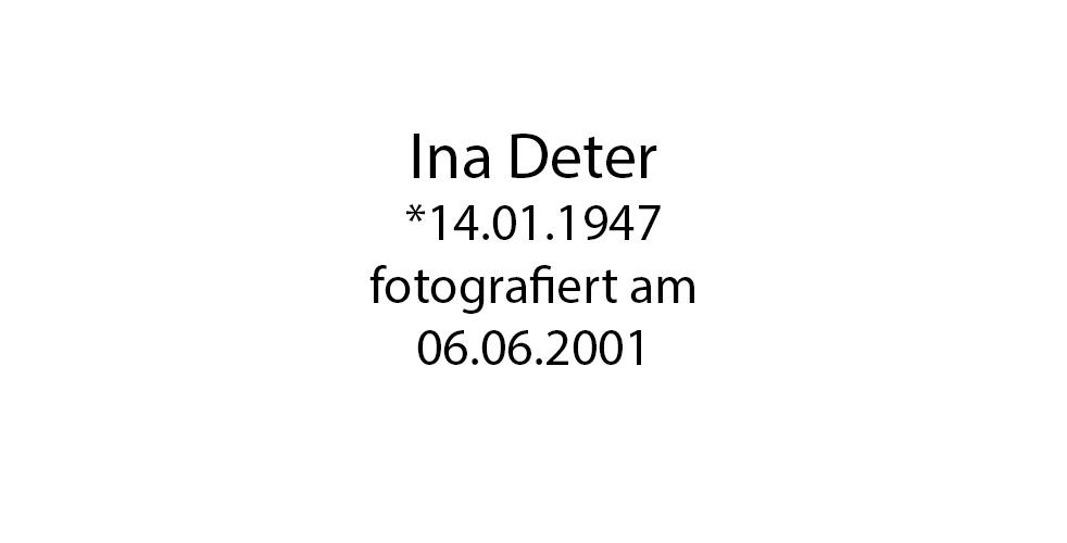 Ina Deter foto organico Picture Bild Krackhardt Christof Menschen des veröffentlichten Lebens Geburt Birth Datum