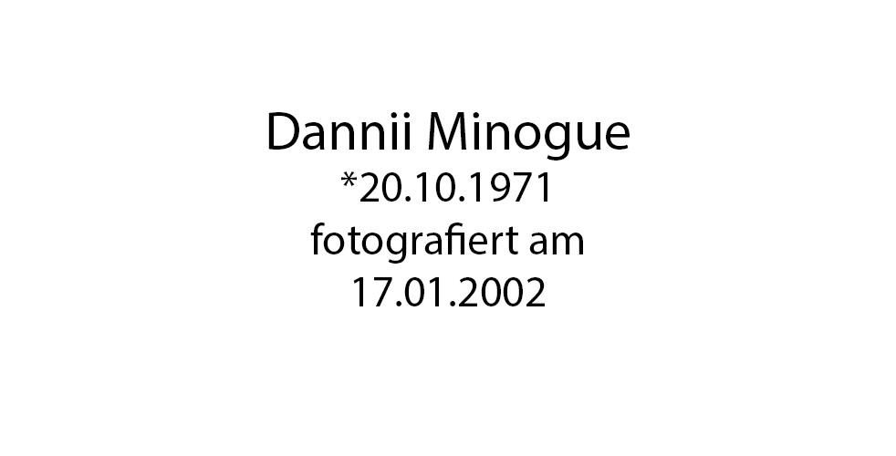 Dani Minogue Portrait foto organico Picture Bild Krackhardt Christof Menschen des veröffentlichten Lebens Geburt Birth Datum