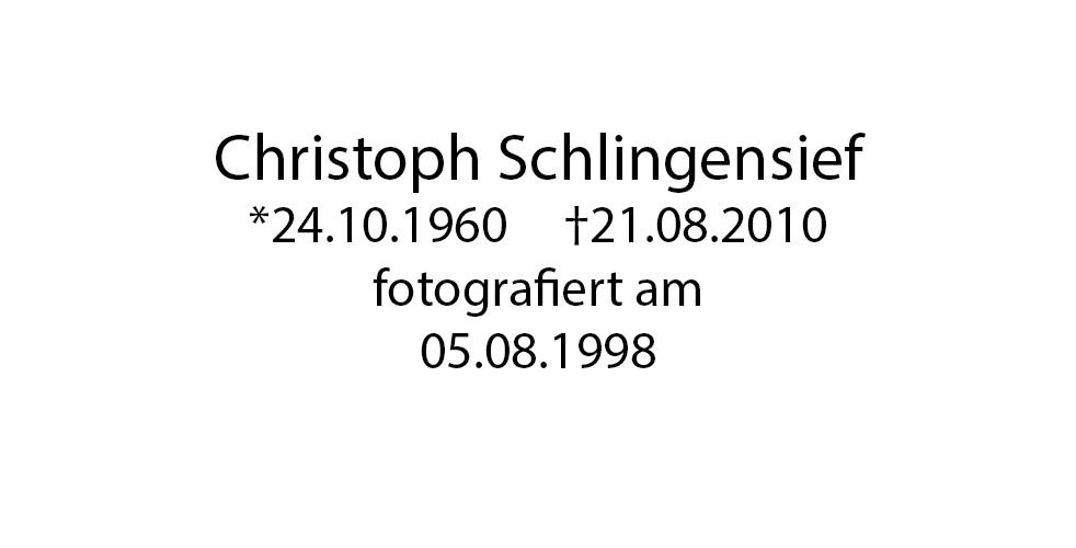 Christoph Schlingensief foto organico Picture Bild Krackhardt Christof Menschen des veröffentlichten Lebens Geburt Birth Datum