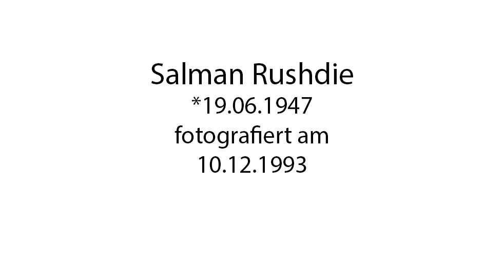 Salman Rushdie foto organico Picture Bild Krackhardt Christof Menschen des veröffentlichten Lebens Geburt Birth Datum