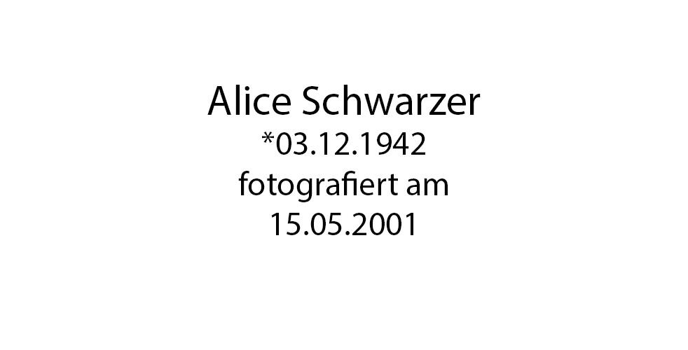 Alice Schwarzer Portrait foto organico Picture Bild Krackhardt Christof Menschen des veröffentlichten Lebens Geburt Birth Datum
