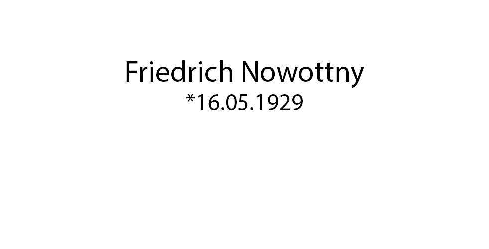 Friedrich Nowotny foto organico Picture Bild Krackhardt Christof Menschen des veröffentlichten Lebens