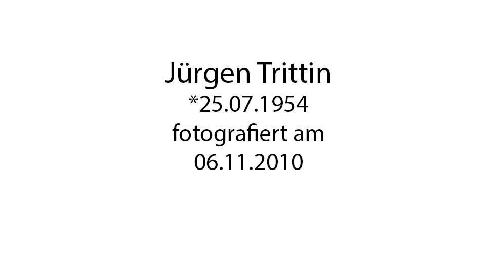Jürgen Trittin foto organico Picture Bild Krackhardt Christof Menschen des veröffentlichten Lebens Geburt Birth Datum
