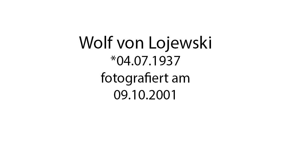 Wolf von Lojewski Portrait foto organico Picture Bild Krackhardt Christof Menschen des veröffentlichten Lebens Geburt Birth Datum