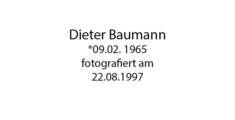 Dierter Baumann foto organico Picture Bild Krackhardt Christof Menschen des veröffentlichten Lebens Geburt Birth Datum