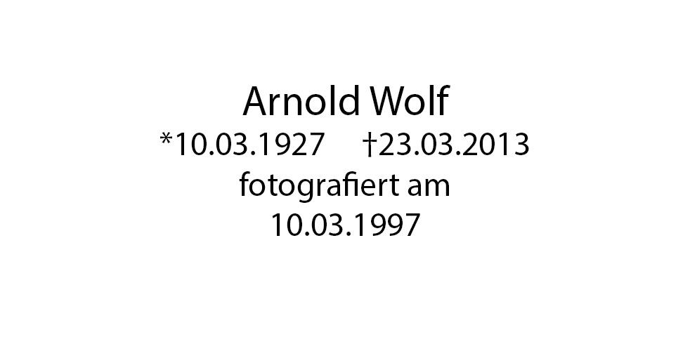 Arnold Wolf foto organico Picture Bild Krackhardt Christof Menschen des veröffentlichten Lebens Geburt Birth Datum