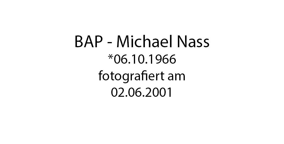 BAP Michael Nass foto organico Picture Bild Krackhardt Christof Menschen des veröffentlichten Lebens Geburt Birth Datum