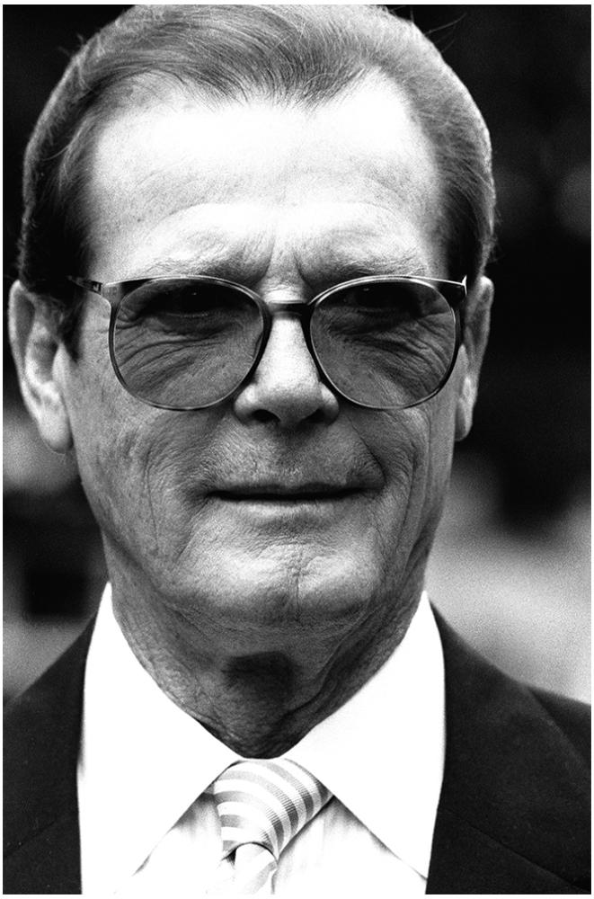Roger Moore foto organico Picture Bild Krackhardt Christof Menschen des veröffentlichten Lebens Geburt Birth Datum