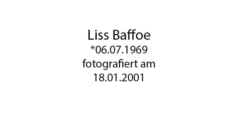 Liss Baffoe foto organico Picture Bild Krackhardt Christof Menschen des veröffentlichten Lebens Geburt Birth Datum
