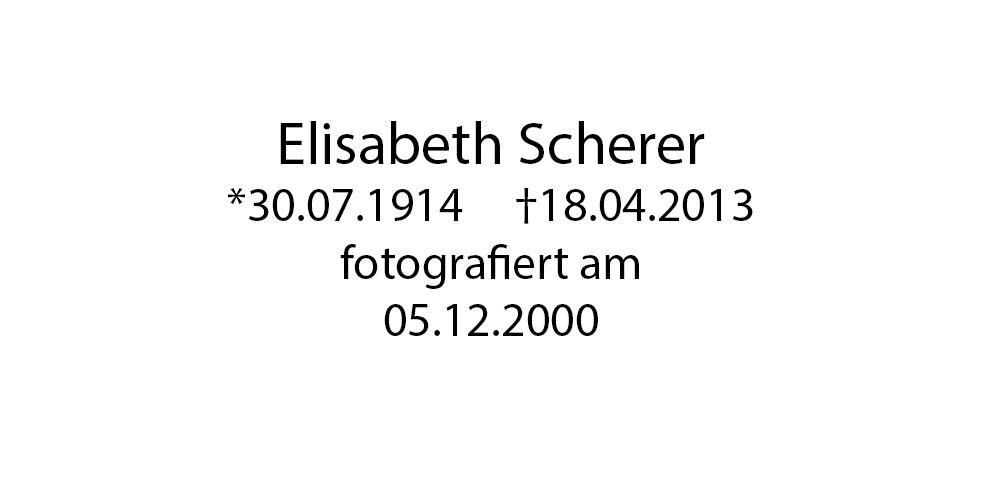 Elisabeth Scherer foto organico Picture Bild Krackhardt Christof Menschen des veröffentlichten Lebens Geburt Birth Datum