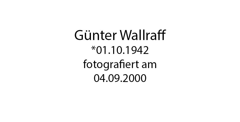 Günter Wallraff Portrait foto organico Picture Bild Krackhardt Christof Menschen des veröffentlichten Lebens Geburt Birth Datum