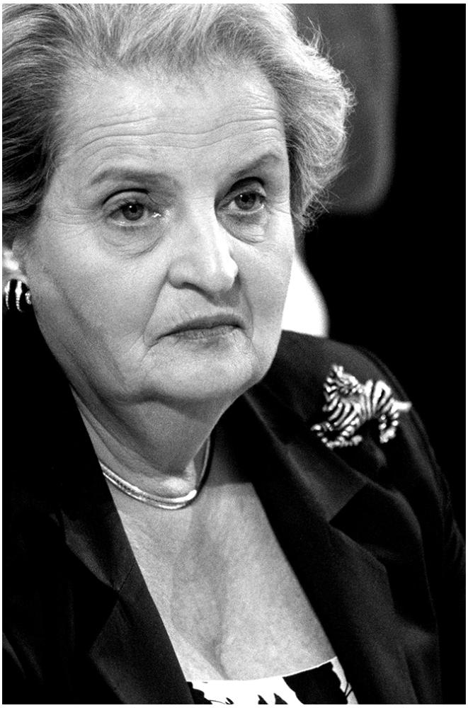 Madeleine Albright foto organico Picture Bild Krackhardt Christof Menschen des veröffentlichten Lebens