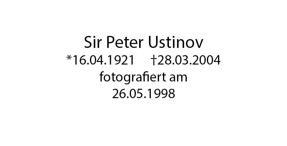 Sir Peter Ustinov foto organico Picture Bild Krackhardt Christof Menschen des veröffentlichten Lebens Geburt Birth Datum