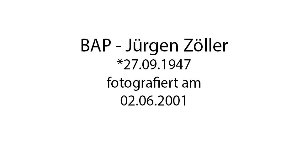 BAP Jürgen Zöller foto organico Picture Bild Krackhardt Christof Menschen des veröffentlichten Lebens Geburt Birth Datum