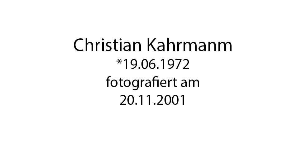 Christian Kahrmann foto organico Picture Bild Krackhardt Christof Menschen des veröffentlichten Lebens Geburt Birth Datum