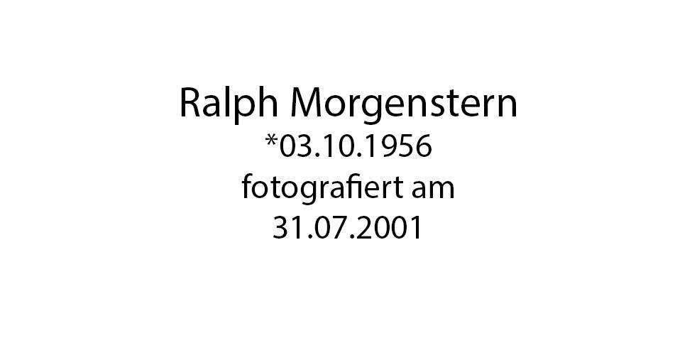 Ralph Morgenstern foto organico Picture Bild Krackhardt Christof Menschen des veröffentlichten Lebens Geburt Birth Datum