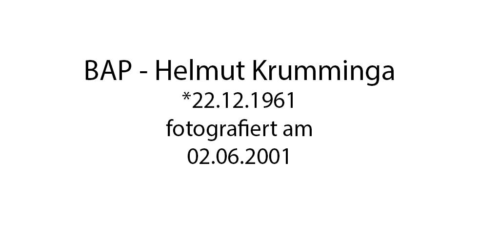 BAP Helmut Krumminga Portrait foto organico Picture Bild Krackhardt Christof Menschen des veröffentlichten Lebens Geburt Birth Datum