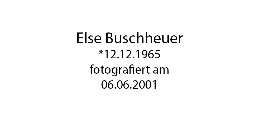 Else Buschheuer foto organico Picture Bild Krackhardt Christof Menschen des veröffentlichten Lebens Geburt Birth Datum