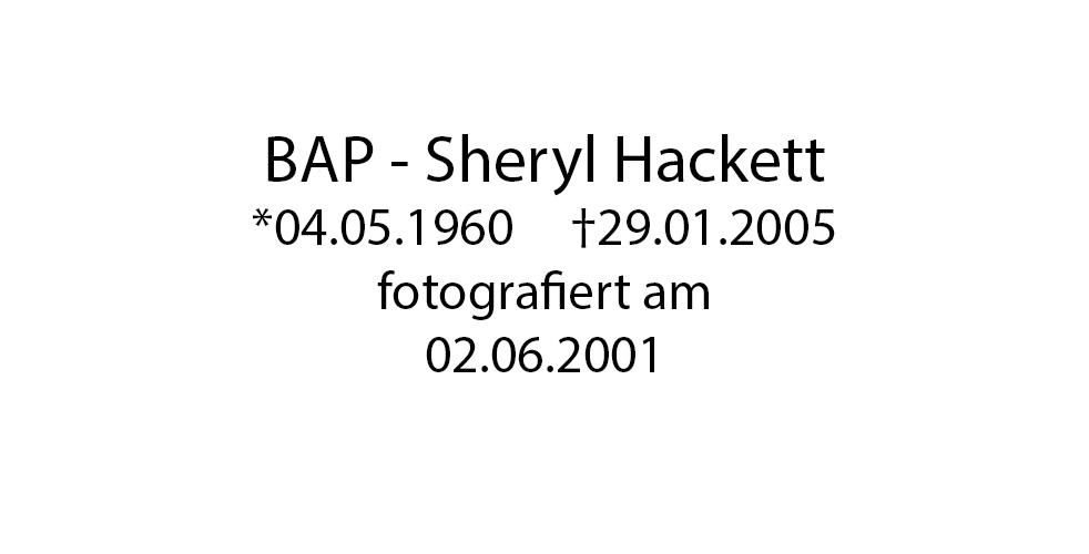 BAP Sheryl Hackett foto organico Picture Bild Krackhardt Christof Menschen des veröffentlichten Lebens Geburt Birth Datum
