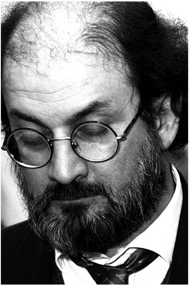 Salman Rushdie foto organico Picture Bild Krackhardt Christof Menschen des veröffentlichten Lebens