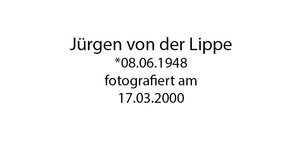 Jürgen von der Lippe Portrait foto organico Picture Bild Krackhardt Christof Menschen des veröffentlichten Lebens Geburt Birth Datum