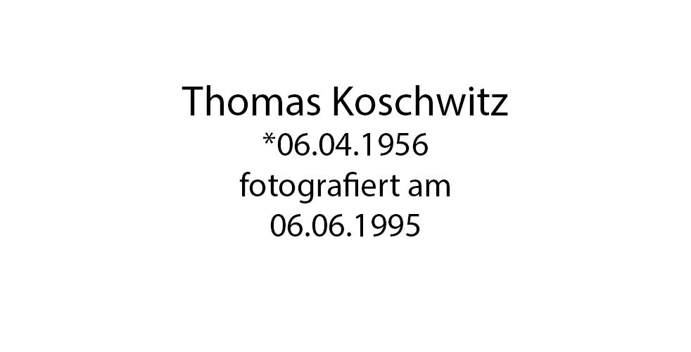 Thomas Koschwitz Portrait foto organico Picture Bild Krackhardt Christof Menschen des veröffentlichten Lebens Geburt Birth Datum