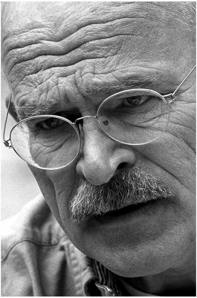Günter Wallraff Portrait foto organico Picture Bild Krackhardt Christof Menschen des veröffentlichten Lebens
