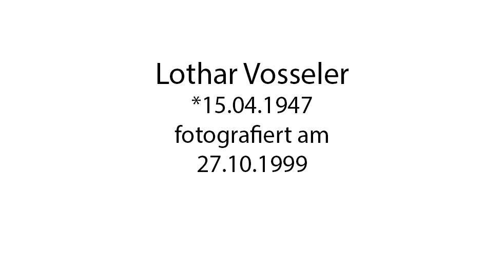 Lothar Vosseler foto organico Picture Bild Krackhardt Christof Menschen des veröffentlichten Lebens Geburt Birth Datum
