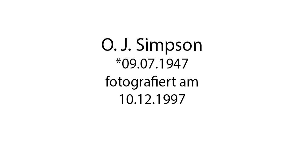 O J Simpson foto organico Picture Bild Krackhardt Christof Menschen des veröffentlichten Lebens Geburt Birth Datum