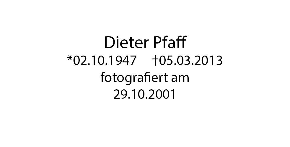 Dieter Pfaff foto organico Picture Bild Krackhardt Christof Menschen des veröffentlichten Lebens Geburt Birth Datum