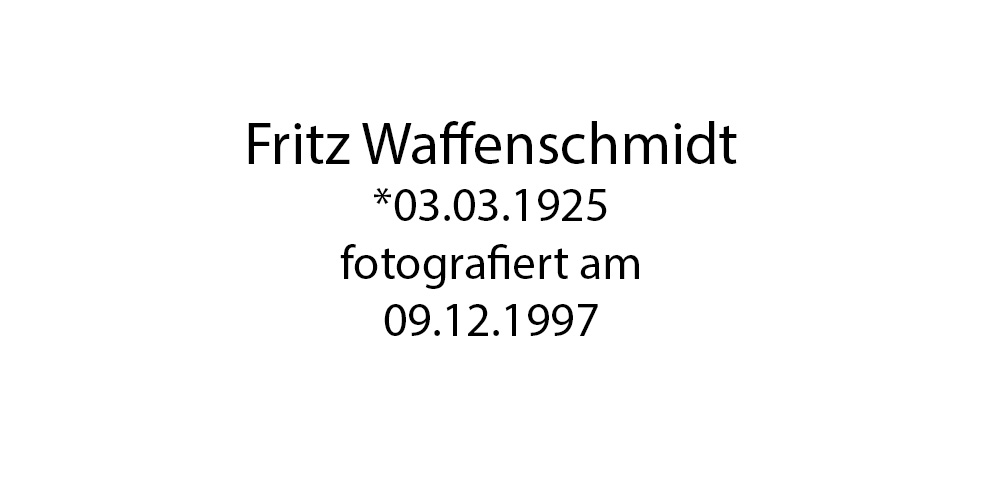 Fritz Waffenschmidt foto organico Picture Bild Krackhardt Christof Menschen des veröffentlichten Lebens Geburt Birth Datum