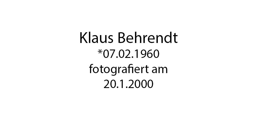 Klaus Behrendt foto organico Picture Bild Krackhardt Christof Menschen des veröffentlichten Lebens Geburt Birth Datum