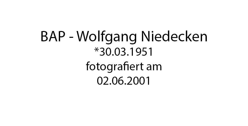 BAP Wolfgang Niedecken foto organico Picture Bild Krackhardt Christof Menschen des veröffentlichten Lebens Geburt Birth Datum