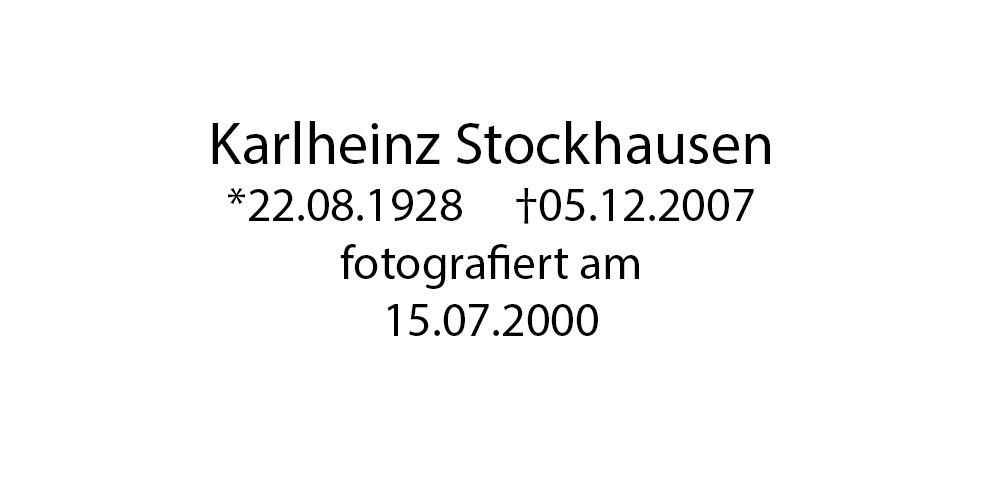 Karlheinz Stockhausen foto organico Picture Bild Krackhardt Christof Menschen des veröffentlichten Lebens Geburt Birth Datum