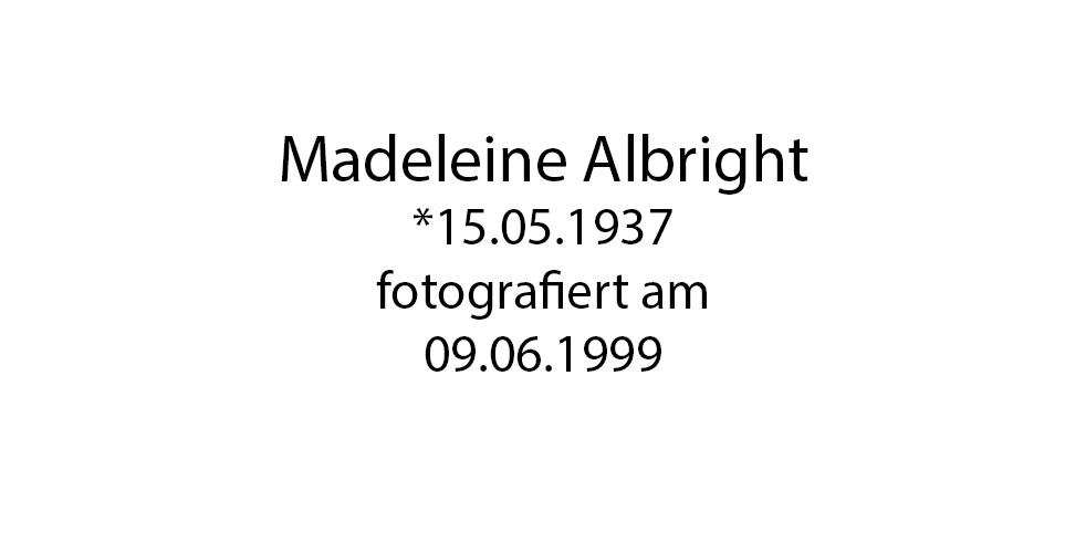 Madeleine Albright foto organico Picture Bild Krackhardt Christof Menschen des veröffentlichten Lebens Geburt Birth Datum