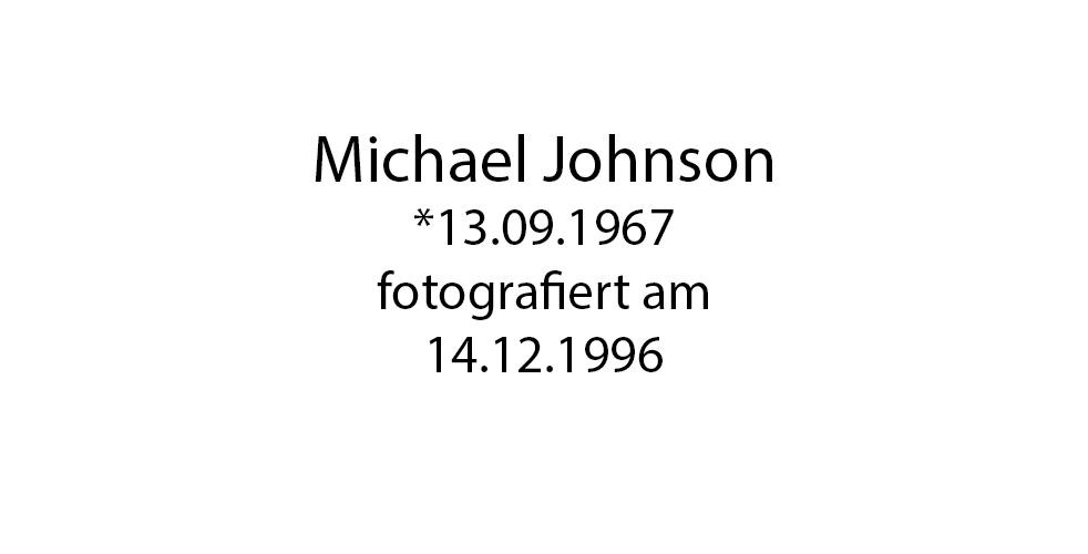 Michael Johnson Portrait foto organico Picture Bild Krackhardt Christof Menschen des veröffentlichten Lebens Geburt Birth Datum