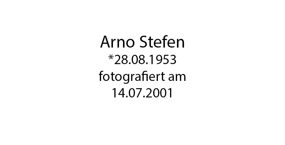 Arno Stefen foto organico Picture Bild Krackhardt Christof Menschen des veröffentlichten Lebens Geburt Birth Datum