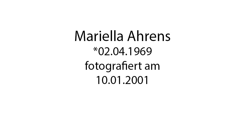 Mariella Ahrens foto organico Picture Bild Krackhardt Christof Menschen des veröffentlichten Lebens