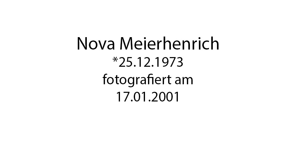 Nova Meierhenrich foto organico Picture Bild Krackhardt Christof Menschen des veröffentlichten Lebens Geburt Birth Datum