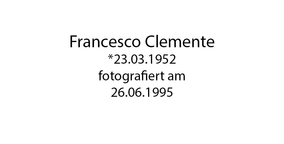 Francesco Clemente foto organico Picture Bild Krackhardt Christof Menschen des veröffentlichten Lebens Geburt Birth Datum