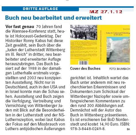 Mitteldeutsche Zeitung 27.01.2012