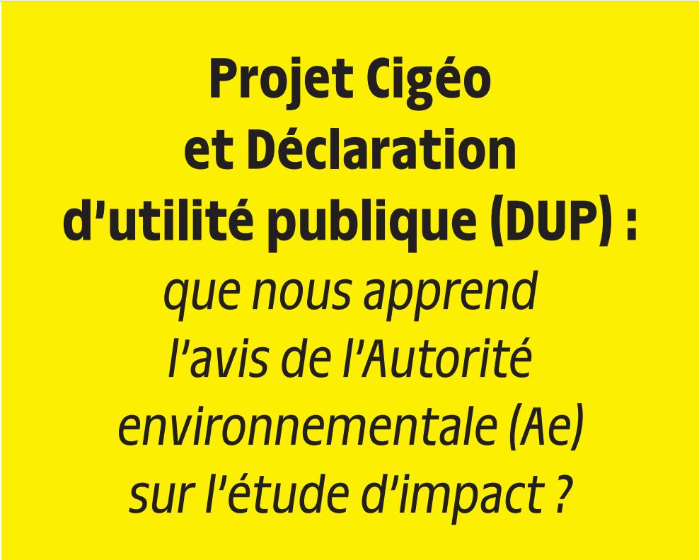 Campagne d'interpellation des autorités suite à l'avis de l'Autorité Environnementale