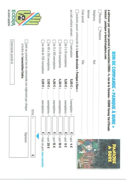 La BD est distribuée gratuitement aux jeunes de Meuse et de Haute-Marne. Mais si vous souhaitez en commander un ou plusieurs exemplaires, voici un bon de commande !