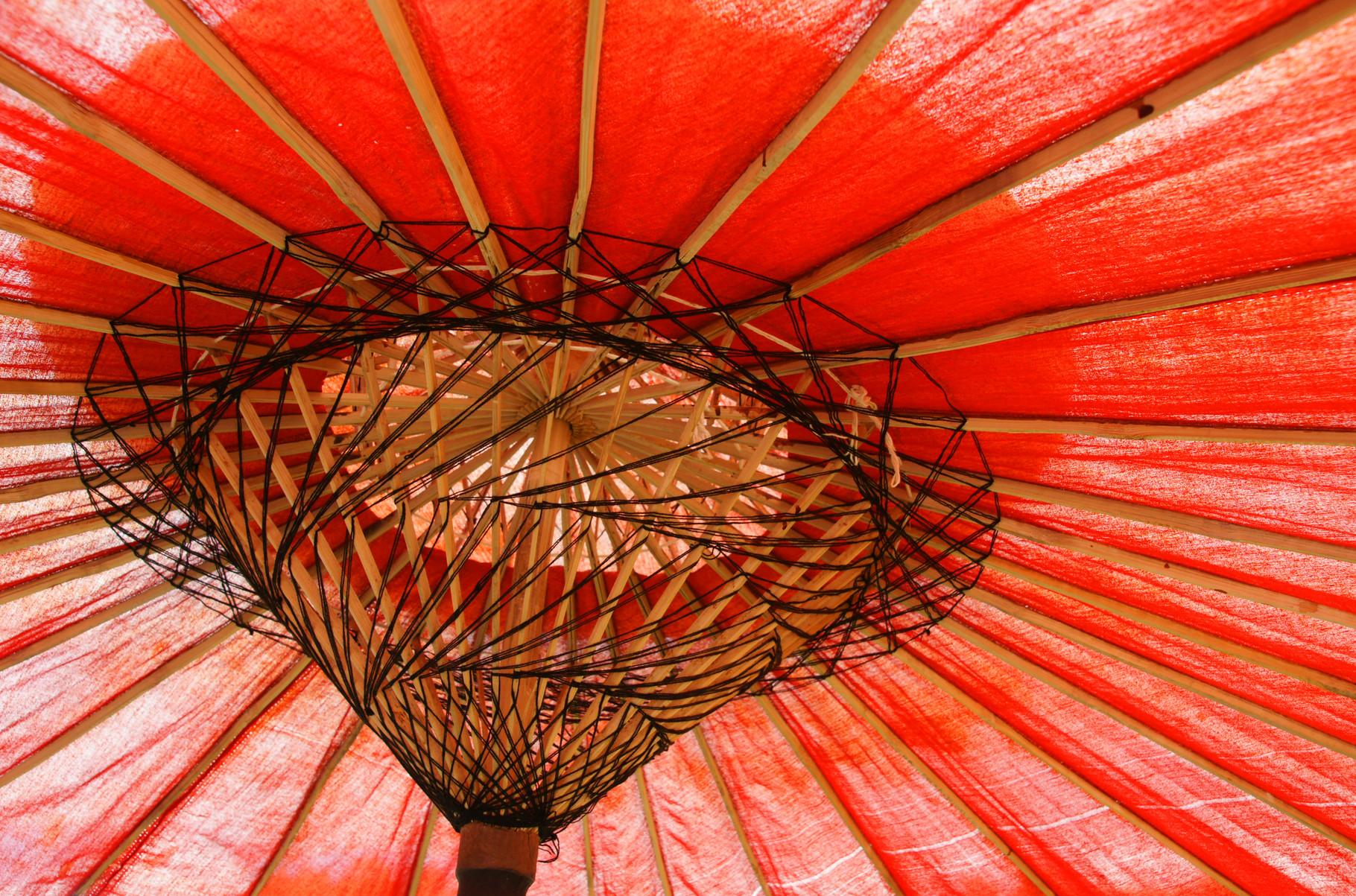 ein Kunstwer der Schirm
