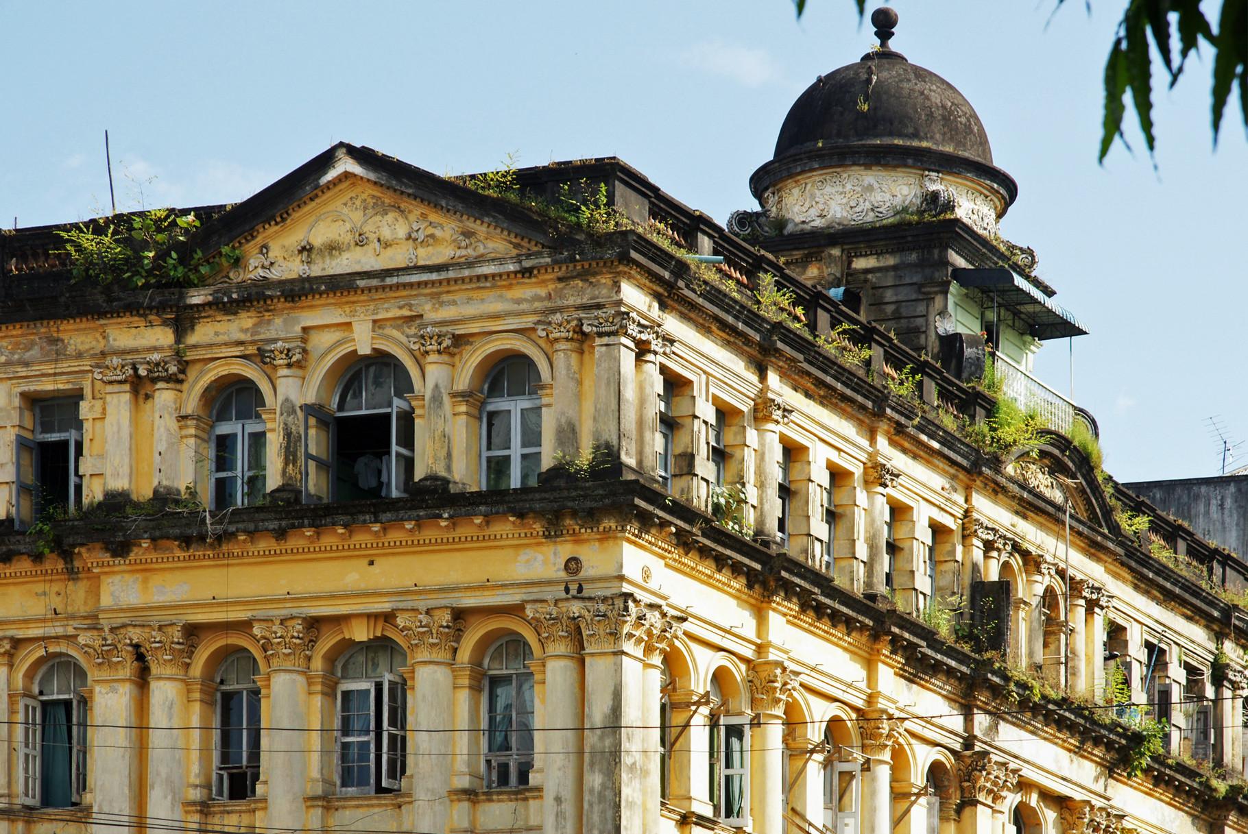 Kolonial - Architektur aus der Zeit  englischen Besatzung